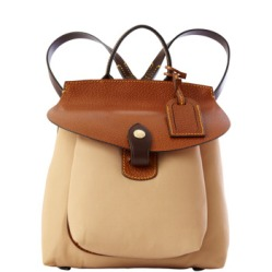nude leather rucksack